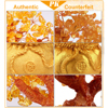 LUCKY Fortune Wealth Chinese Golden Crystal Lucky Money Fortune Tree Home Office Decoration Best Gifts Tabletop Ornament Crafts 6