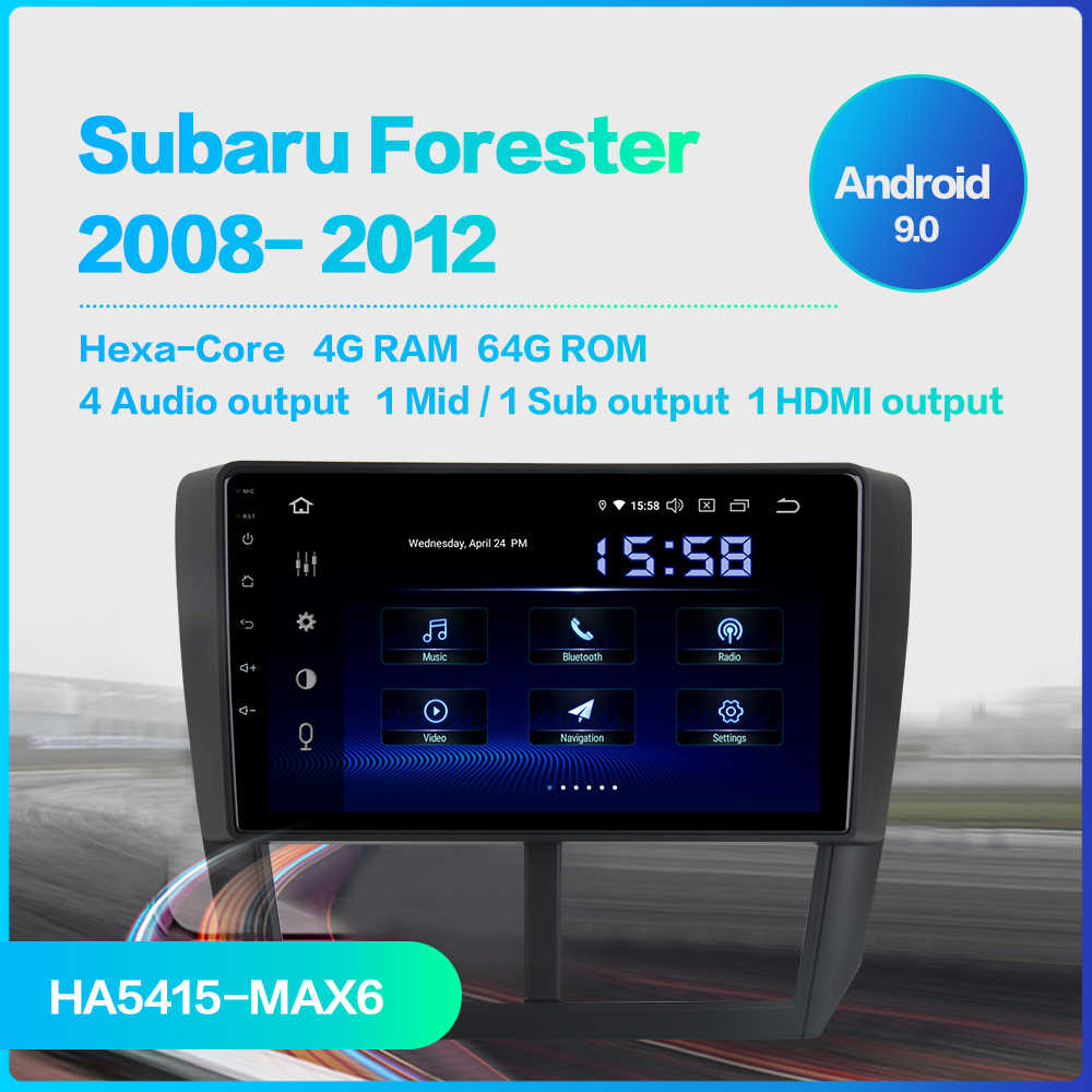 "Fongent 9"" IPS Car Multimidia Android 9.0 for Subaru Forester 2008 2009 2010 2011 2012 Radio GPS Navigation TDA7850 MAX6 MP3"