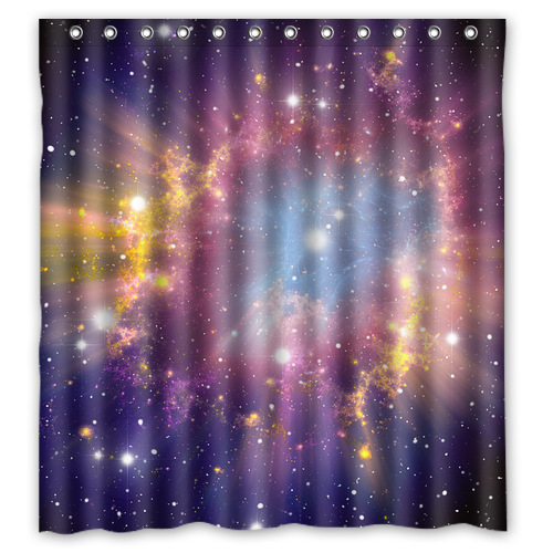 Waterproof Decorative Unique Astronomy Nebula Shower Curtain Bathroom 66x72