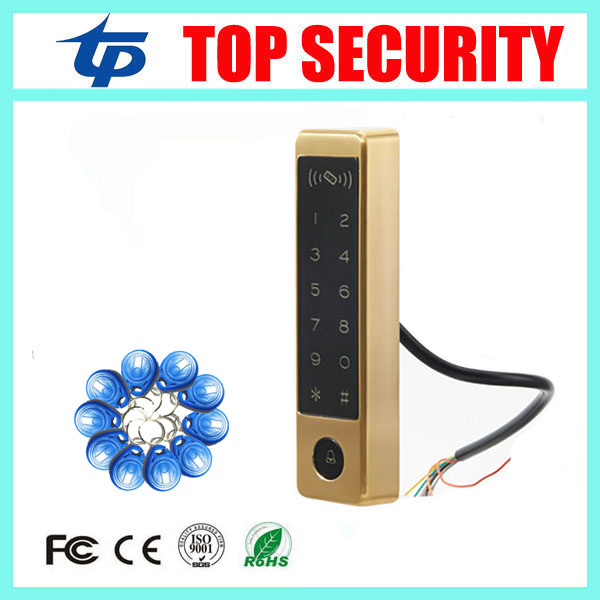 Touch keypad standalone door access control reader surface waterproof RFID card smart proximity card access controller smart 13 56mhz mf ic card proximity card access control door opener rfid surface waterproof standalone access control system