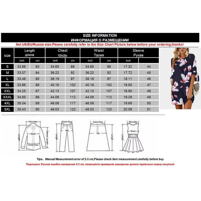 Meitawilltion 5XL Plus Size Chiffon Dresses 2018 Casual Bow Half Sleeve Floral Print Beach Dress Sexy Mini Party Dress Vestidos  5