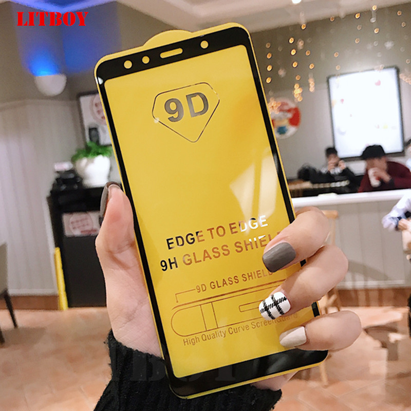 9D Tempered Glass For Samsung Galaxy A5 A7 A6 A6S A8 Plus A9 2018 Screen Protector For Samsung A3 A5 A7 J3 J5 2017 Glass Film