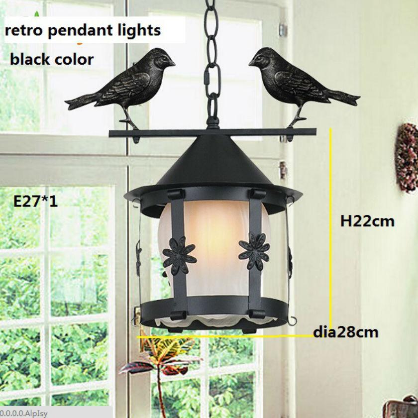 Single head Metal birdcage lights /Dia28cm H22cm E27*1 40w /antique industrial style pendant lights /Retro countryside lamp