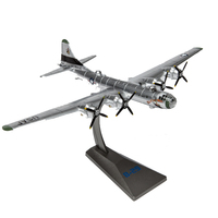 1:144 American B29 Bomber Plane World War II USA B 29 Aircraft Model Alloy Simulation Static Military Finished Model