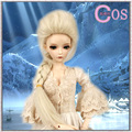 "8"" -9 "" Bjd doll wig  elsa costume  high temperature wire - 1/3"