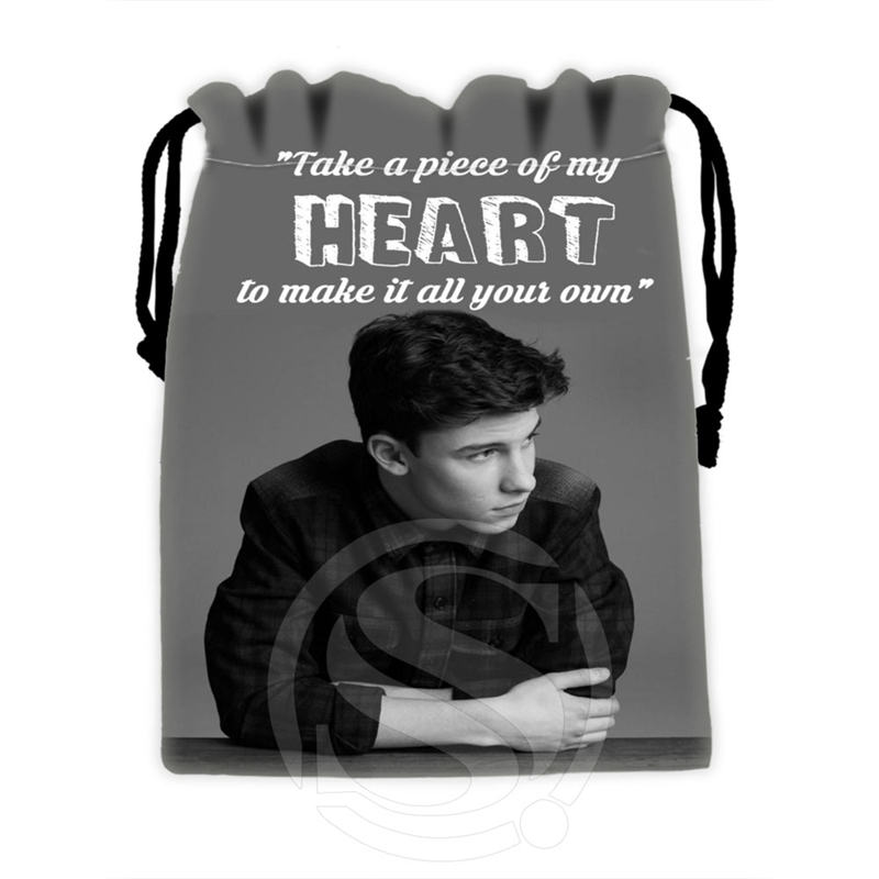Unique Design Custom Shawn Mendes 2 drawstring bags for mobile phone tablet PC packaging Gift Bags18X22cm
