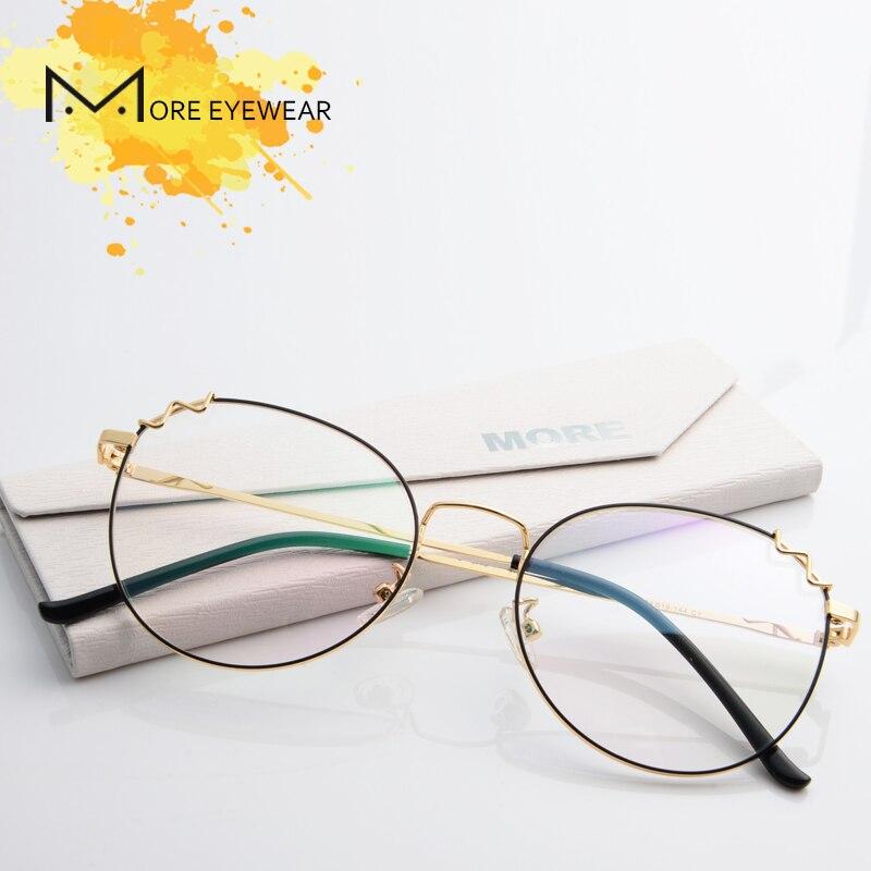 100% Kwaliteit S18012 Vrouwen Medium Volledige Velg Ovale Brilmontuur Met Optische Lens Klassieke Kleurrijke Bijziendheid Brillen