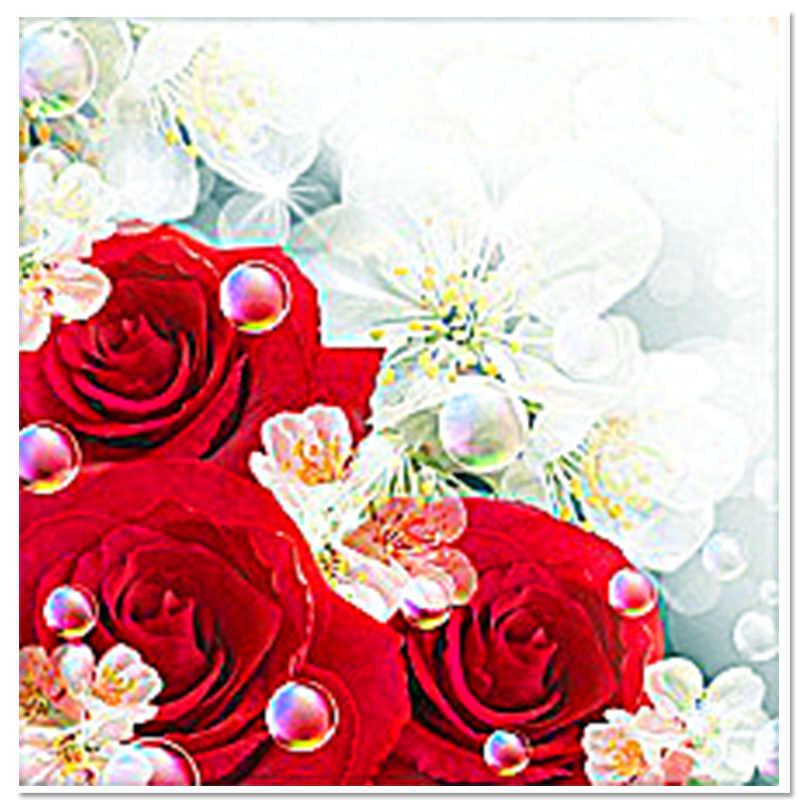 5026c07f29a5 Nouveau diy diamant broderie floral point de croix kits main décor carré  plein résine particules amour europe accueil