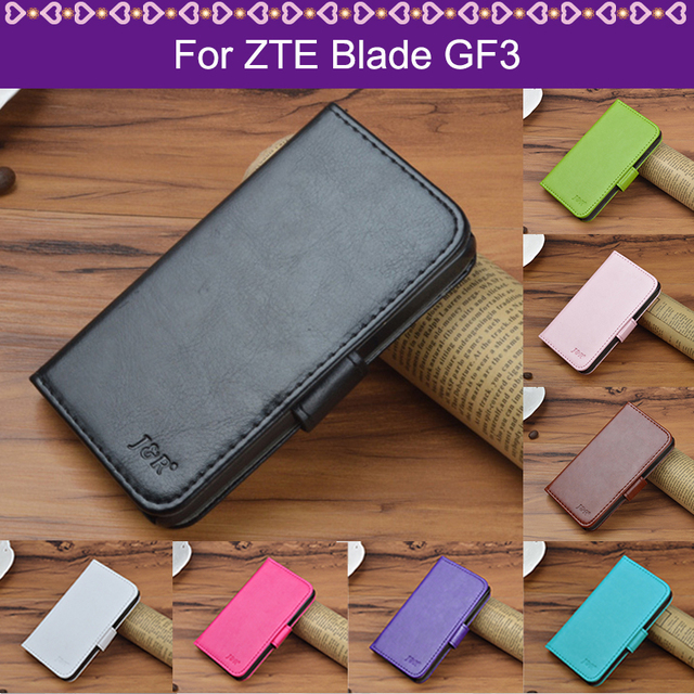 J&R Phone Case For ZTE Blade GF3 GF 3 T320 4.5 Case Luxury Silicone Stand Wallet Leather Flip Cover For ZTE Blade GF3 Case Cover