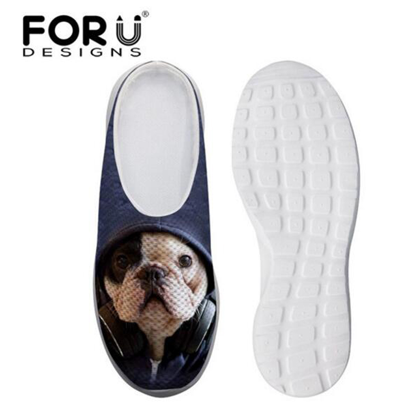 FORUDESIGNS Dog Cat Print Women Sandals Home, Summer Woman Mesh Clogs Shoes,Ladies Casual Slides Breathable Slipper Spring casual women sandals 2017 summer shoes mixed color mesh breathable garden shoes outdoor mules