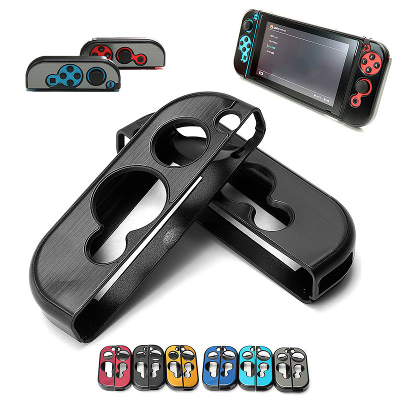 1 Pair 6 Colors Anti-slip Aluminum Hard Case Cover Shell Protector For Nintend Switch Grip Joy-Con Controller Skin Cover Case