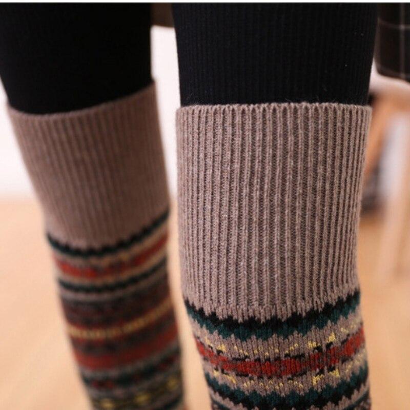 WEIXINBUY Women Winter Elegant Over Knee Long  Knit cover Patchwork Colorful Ladies Crochet Vintage Leg Warmers Legging Chic HTB1Wyz2gxPI8KJjSspoq6x6MFXaE