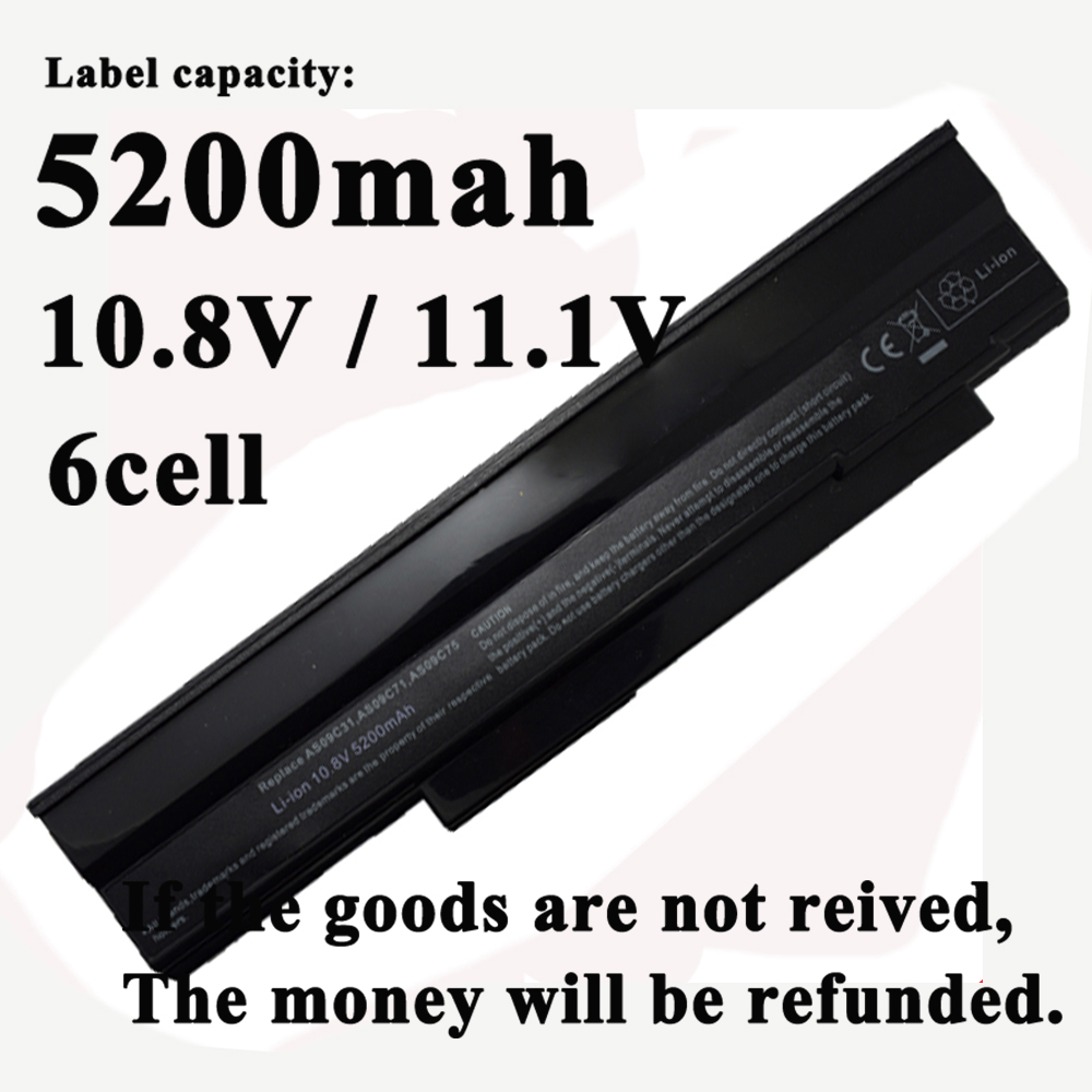 6Cell Laptop Battery for Acer Extensa 5235 5635 5635G 5635Z 5635ZG for eMachines E528 E728 AS09C31 AS09C71 <font><b>AS09C75</b></font> image