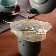 1 шт! wizamony фильтр для чая с листьями Бодхи креативный сетчатый