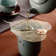 WIZAMONY Bodhi Leaf Tea Filter Creative Net Kongfu Teaset Tea Accessory Tea Set Teapot Tea Cup цена 2017