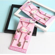 Высокое качество KT cat ребенок ремешок клип для маленьких девочек 3 зажим Эластичный Пояс для чулок регулируемый