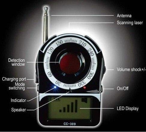 Détecteur de bogue caché de caméra de traqueur de WIFI G4 RF de Signal de GPS Anti détecteur d'espionnage détecteur de caméra candide