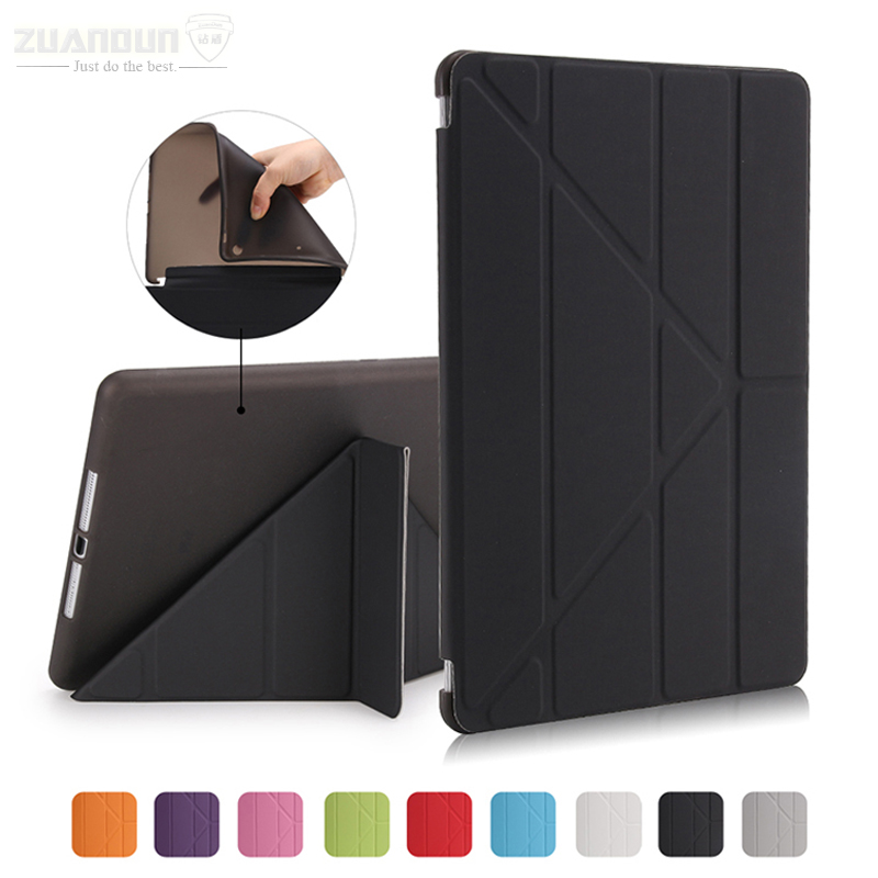 ZUANDUN Case For iPad Air 1 Luxury Smart Leather Stand TPU Silicone Cover For Apple iPad Air Tablets Case Wake Up / Sleep for ipad mini4 cover high quality soft tpu rubber back case for ipad mini 4 silicone back cover semi transparent case shell skin