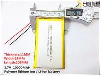 Free Shipping 1pcs Lot 1162106 3 7 V Lithium Polymer Battery 10000 Mah DIY Mobile Emergency