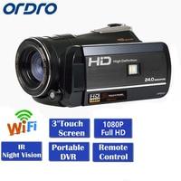 [Autorisierter Distributor] Ordro D395 FHD 1080 p 3 zoll Touch Sceen 24MP 18X Zoom IR Nachtsicht DV digitale Camcorder HDV D395