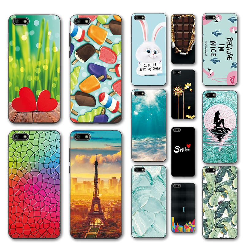Cute Cartoon Soft TPU Case Coque <font><b>Huawei</b></font> Y5 <font><b>2018</b></font> <font><b>5</b></font>.45