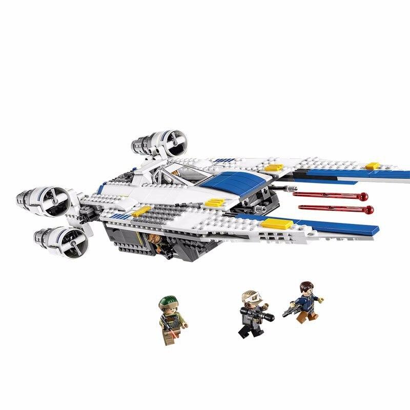 ФОТО Genuine Star War Series New 679pcs Lepin 05054 Genuine The Rebel U-Wing Fighter Set Building Blocks Bricks Toys 75155