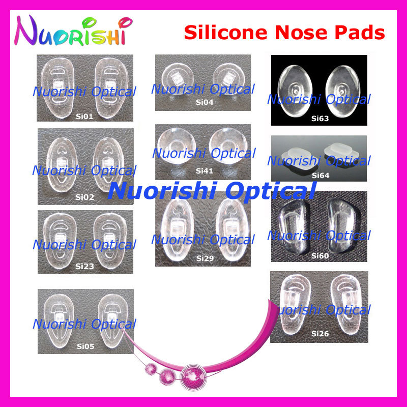2000pcs Good Quality Eyeglasses Eyewear Glasses Accessories Silicone Nose Pads Screw in or Push in Free
