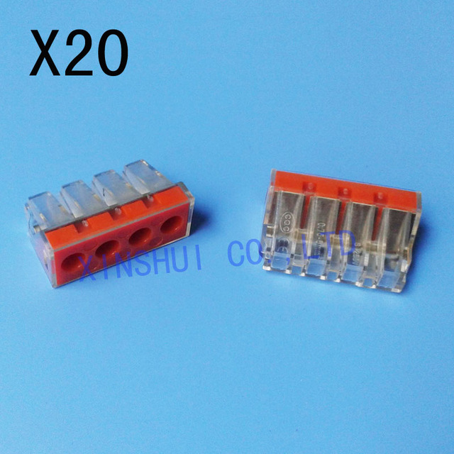 20pcs Wire connector PCT174 Push Wire Wiring Connector For Junction ...