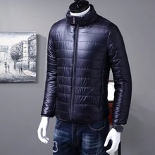 Fashion Winter Parka Men Cotton Padded Jacket Mens Stand Collar Zipper Warm Coat Male Overcoat Men Winter Parkas Plus Size 3xl