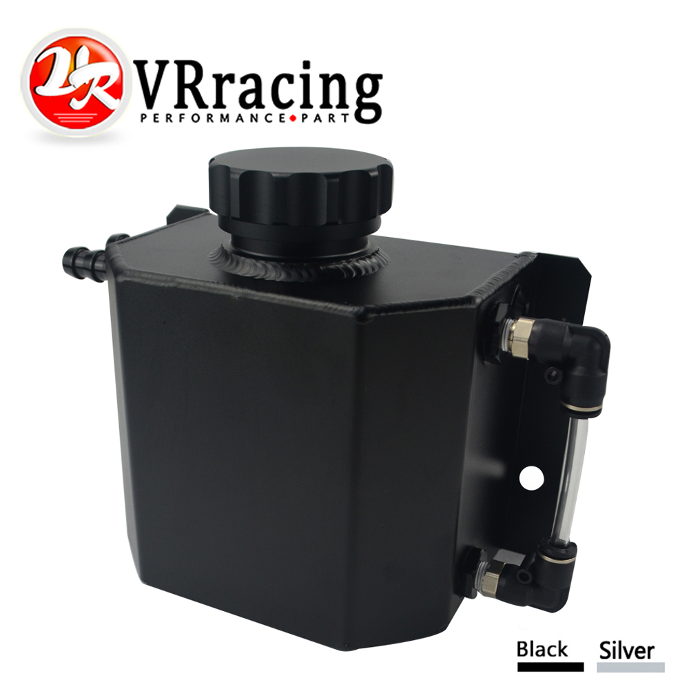 VR - Universal 1L Aluminum Oil Catch Can Reservoir Tank With Drain Plug Breather Oil Tank Fuel Tank VR-TK57 все цены