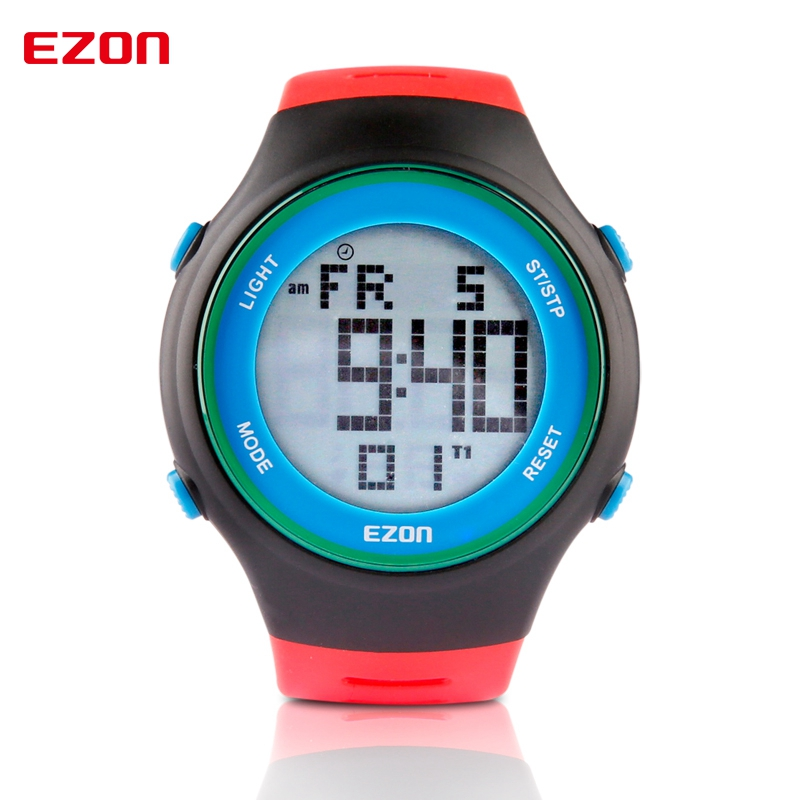 EZON Digital Men Sports Watch Dual Time Stopwatch Outdoor Casual Running Swimming Hiking Waterproof 30m Wristwatch Montre Homme ezon fashion mens women digital watches montre waterproof 30m digital dual time stopwatch outdoor sport watch reloj hombre l008