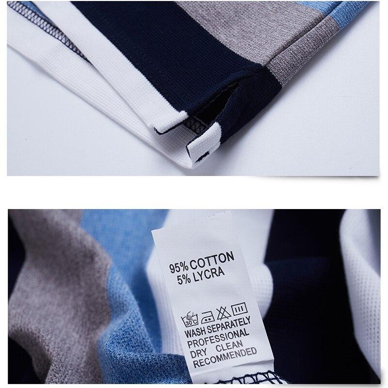 Image 4 - Мужская футболка поло, летняя, повседневная, дышащая, с коротким рукавом, в полоску, большого размера 5xlПоло   -