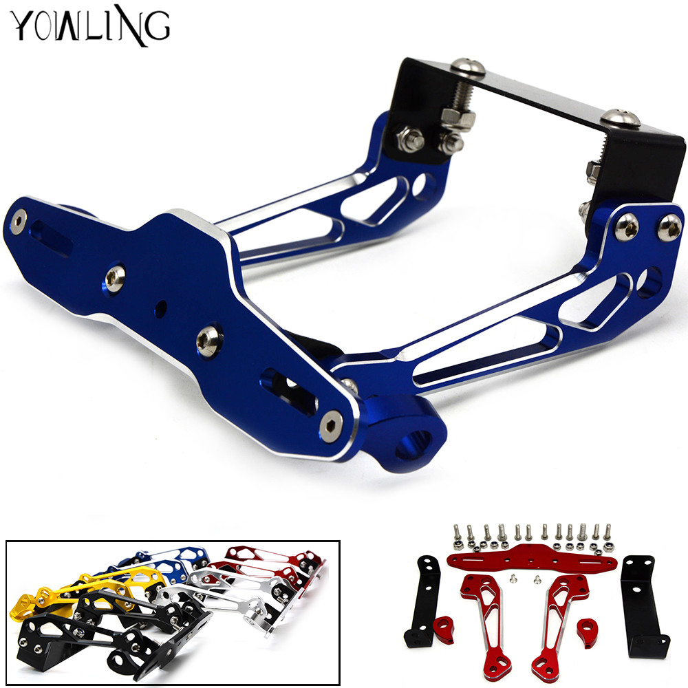 Aluminum License Plate Frame >> Motorcycle CNC Aluminum License Plate Bracket Licence Plate Holder Frame Number Plate For bmw ...