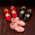 2017 new shoes мода принцесса девушки лук девочки shoes мягкой дышащей носить dance shoes размер 26-30