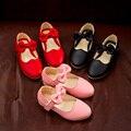 2017 nuevas muchachas de la princesa bow baby girls shoes shoes moda soft transpirable desgaste de la danza shoes tamaño 26-30