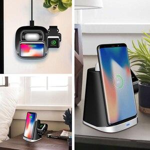 Image 5 - 3 Trong 1 Tề Đế Sạc Không Dây Dành Cho AirPods Đồng Hồ Apple IPhone 8 Plus X XR XS Samsung S9 S8 s10 Không Dây Đế Sạc