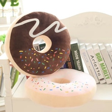 Emoji Cojines high quality plush donut cushion creative simulation food plush toy kids doll office nap cookie pillow best gift