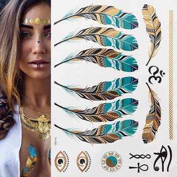Boho Metallic Gold Feathers Temporary Tattoo Accessories Tattoo Stickers cb5feb1b7314637725a2e7: YH010|YH013|YH018|YH021|YH025|YH027|YH029|YH030|YH041|YH048|YH049|YH058|YH062|YH067|YH071|YH075|YH076|YH077|YH078|YH08|YH083|YH093|YH095|YH098|YH119
