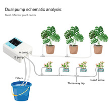 Drip Irrigation Solar System Energy Three Outlets Timed Automatic Watering Device Plant Miniature Diaphragm Pump