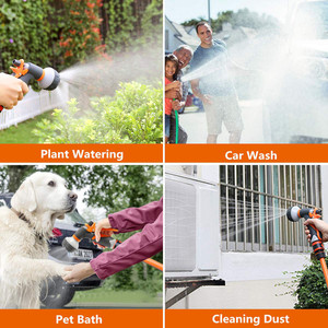 Image 2 - Garden Watering System Hose Nozzle Watering Spray High Pressure Water Sprinkler With 8 Watering Function No Leakage Hose Nozzle
