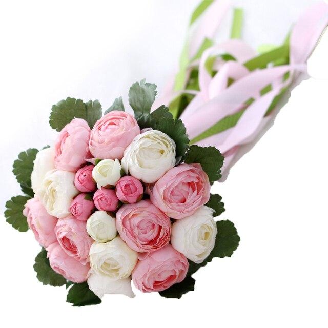 6 Стили 2016 Новый Элегантный Свадебные Букеты для Лента Искусственный Цветок Люкс Для Невесты Украшения Красивый