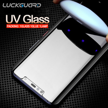 2Pc For Samsung Galaxy S8 S9 10 Plus Note 8 9 S10 e S7 edge Tempered Glass UV Liquid Glue Full Coverage Screen Protector 9H Film