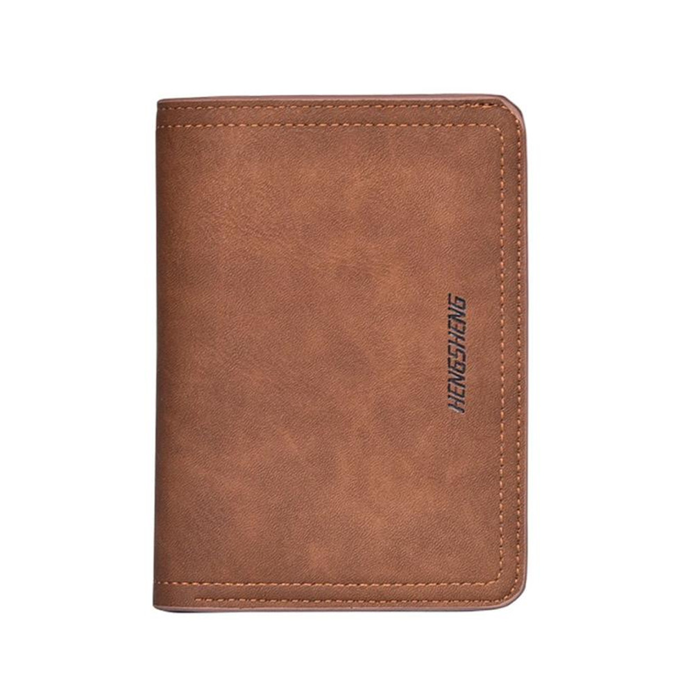 High Quality HENGSHENG Men Wallets Short Bifold Business Leather Brand Wallet Money Card Holder Bag Purse Carteira masculina 2017 coffee new brand men wallet leather pouch dollar designs with card holder bag short wallets money carteira feminina c056