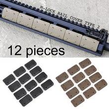 AR15 12 Pieces M-LOK Airsoft Handguard Rail Cover MLOK System Hand Protector Accessories Kit Subzero