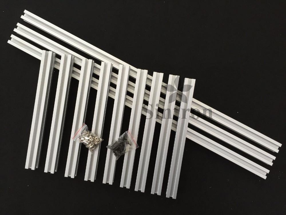 Sintron 2020 Openbeam Kossel 소형 델타 3D 프린터 20mm x 20mm 4 슬롯 알루미늄 프로파일 압출 커버 키트 Rostock