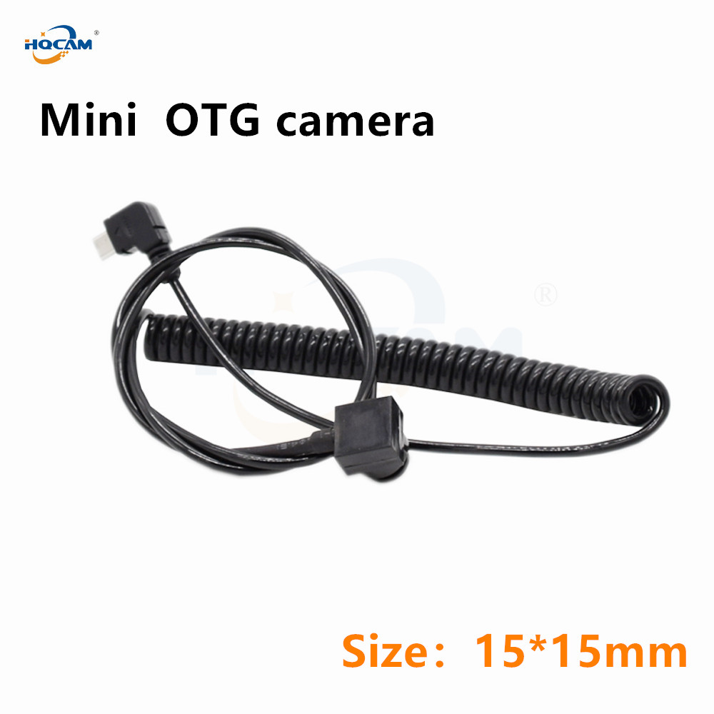 HQCAM audio OTG USB Camera Mini Wide Angle Lens 2MP Micro 1080P Security camera Endoscope industrial testing for Android IOS app