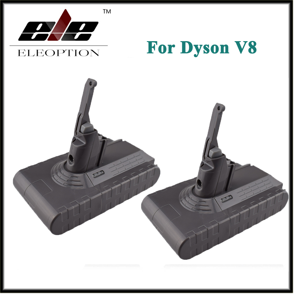 2x Eleoption di Alta Qualità 21.6 V 2800 mAh/60.48Wh Ricaricabile Li-Ion Battery Pack Per Dyson V8 Serie