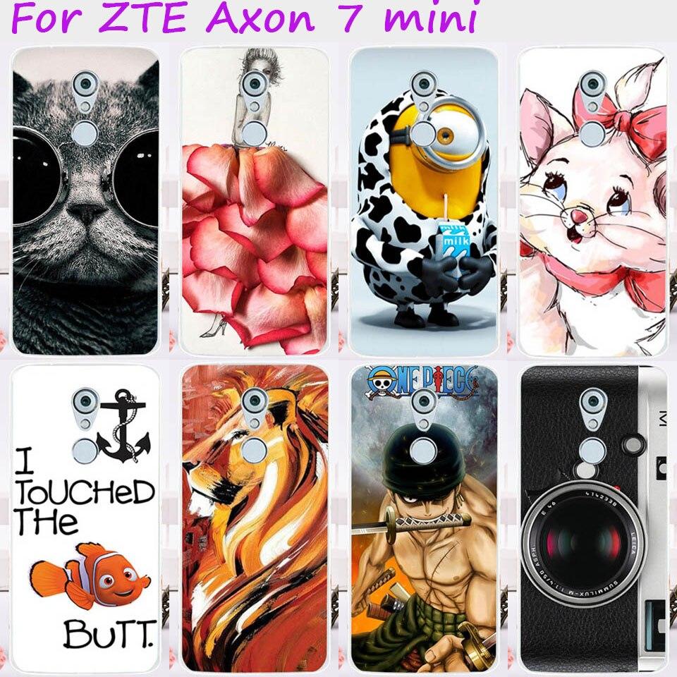 De Plástico duro de TPU Suave Cajas Del Teléfono Móvil Para ZTE Axon 7 Mini 5.2