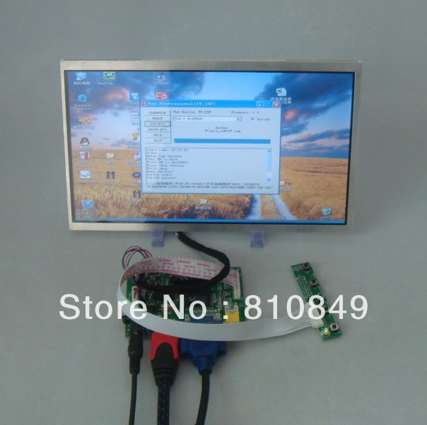 HDMI+VGA+2AV Driver board+10.1inch 1024*576 lcd panel N101N6 LP101WS1 vga 2av revering driver board 8inch 800 600 lcd panel ej080na 05b at080tn52