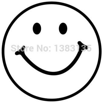 12cm x 12cm Smiley Face Silhouette Car Sticker For Truck Window Bumper Auto SUV Door Kayak Vinyl Decal 13 Colors image